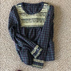 J. Crew embroidered top!
